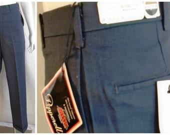 Vintage 1960's Men's Pants NWT Cuffed Pants Blue Gray 32 x 30