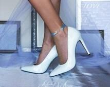 Something Blue Infinite Love Ribbon Wedding Anklet for Bride