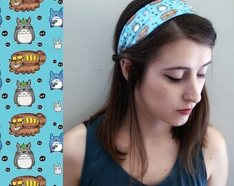 Totoro Headband - anime pattern geeky hair band accessory