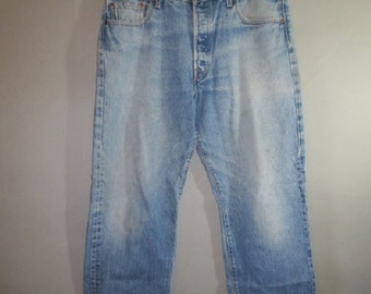 "501 Faded LEVI'S // Faded, Worn, Button Front...38"" X 32"""