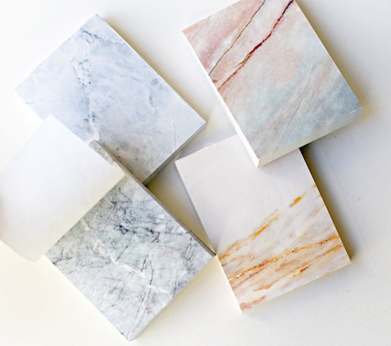 Marble Notepad Tear-off Notepadsimple And Minimalist By