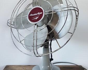 Vintage Industrial Fasco Arctic Aire Electric Desktop Fan