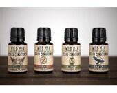 Wild Man Beard Oil Conditioner - Sampler Pack - Four 15ml Bottles