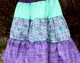 Purple Twirl Boho Hippie Flower Party Dress 4 year old