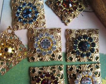 Swarovski Crystal  In Filigree Setting