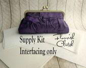 Flourish Clutch kit, interfacing ONLY kit, frame clutch purse kit, DIY, make your own clutch, diy bridesmaid gift