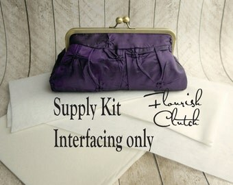 Flourish Clutch kit, interfacing ONLY kit, frame clutch purse kit, DIY, make your own clutch, diy bridesmaid gift