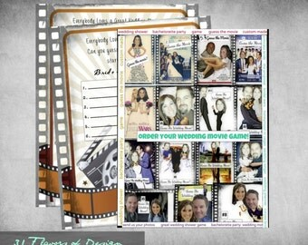 Wedding Shower Game- Guess The Wedding Movie - CUSTOMIZED