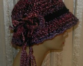 Ladies Purple Hat