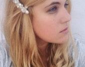 Pearl Hair Clip - Bridal Barrette Clip with Freshwater Pearl and Crystal - Pearl and Crystal Barrette