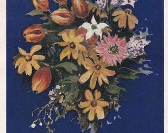 Congratulations Postcard by E. Golyakhovsky -- 1954