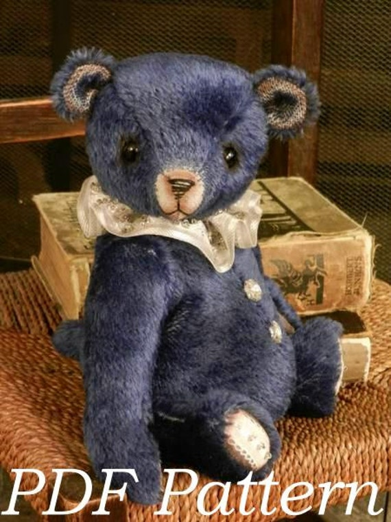 """PDF download Pattern to make a 10"""" bear like Midnight - download"""