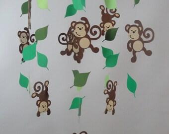 Monkey Jungle Mobile Etsy