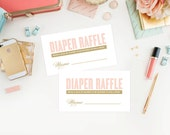 Instant Download - Old Fashioned Diaper Raffle Tickets