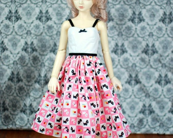 SD13 Pink Scotty Dog Dress For BJD - Last One