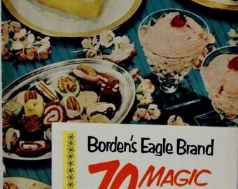Vintage Borden's Eagle Brand 70 Magic Recipes Cookbook, Vintage Cookbook, Cookie Recipes, Candy Recipes