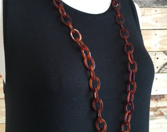 Red Tortoise Link Necklace