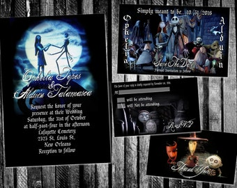 The Nightmare Before Christmas Movie Inspired Wedding Invitation, Save The  Date, RSVP, And