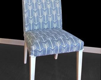 IKEA HENRIKSDAL Dining Chair Cover - Arrows Grey