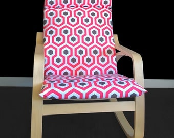 Poang chair cover etsy - Red poang chair ...