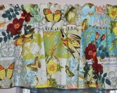 Vintage Inspired Valance Michael Miller French Journal Collection Anjou Pour Vous . Custom Curtains  . Handmade by Pretty Little Valances