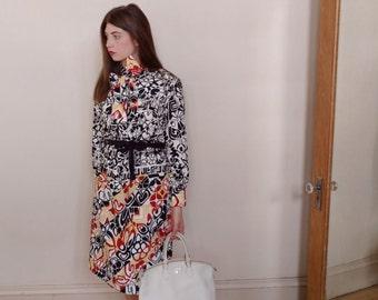 Vintage Lanvin Paris Dress Medium/Large 1960s 1970s