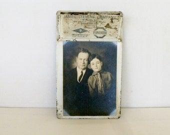 Vintage Steel Clip Board Photo Display Industrial Advertising Clipboard