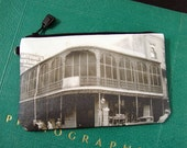 Cosmetic Bag with Vintage Photograph of Antoine's, New Orleans, c. 1940