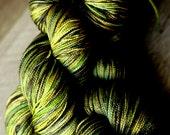 """150g Shawl Length Sock yarn - 80/20 SW Merino/Silk - Holiday - """"Houseplant Appreciation Day"""""""