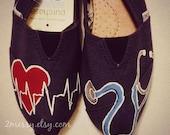 "SIZE 5 - ""Medical"" Canvas Toms Shoes"