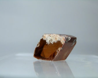 Collectible Mineral Topaz Crystal Lapidary Rough 50 carat Mexican Clear Topaz Red Staining Crystal Piece Natural Facets DanPickedMinerals