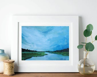 Calm Blues | Acrylic Painting Giclee Art Print | Various sizes available