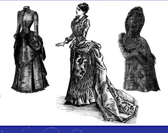 Victorian Dress Patterns Illustrated American Dressmaking Design Stunning Theater Costumes for Dressmakers 148 Pg Printable Instant Download