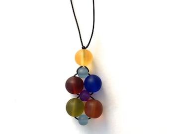Nursing Necklace/ Breastfeeding Necklace - Twiddle Cluster - Autumn Rainbow