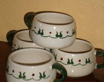 Cups/Set of Fou5/POPPYTRAIL/CALIFORNIA/METLOX/Homestead, Provincial