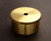 Large Brass Cylinder Gear, Mainspring Barrel from Vintage Clock Movement, Vintage Clockwork Mechanism Parts, Steampunk Art Supplies 03895