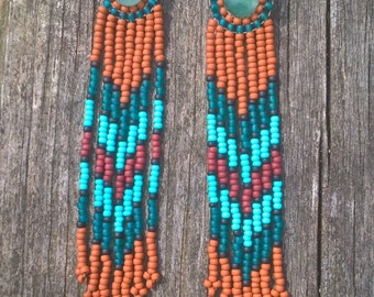 Hesperides Stunning  Tribal Fringe Earrings