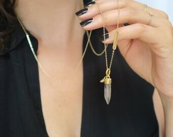 Pastel cristalo point necklace