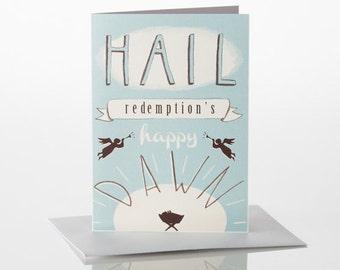 Hail Christmas Card A6