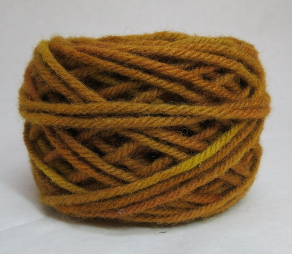 BRONZE, 100% wool, 2 ozs. 43 yards, 4-Ply Bulky weight and 3-ply Worsted weight yarn, rolled into cakes, ready to use, made to order