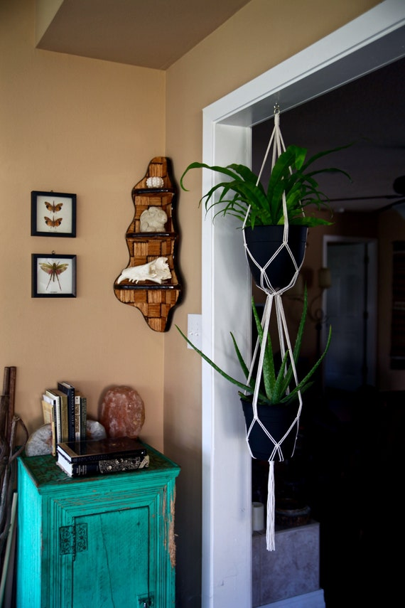 "Macrame Plant Hanger - 60"" Simple Double"