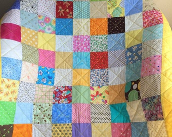 "It's A Scrap Happy Delight In This 38"" X 38"" Quilt"