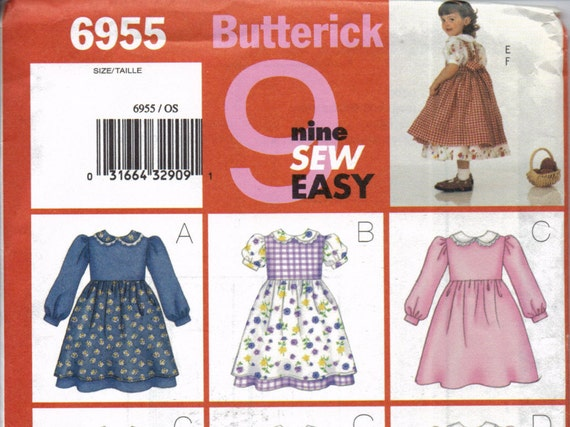 Toddler Girls Dirndl Skirt Dress and Pinafore Pattern