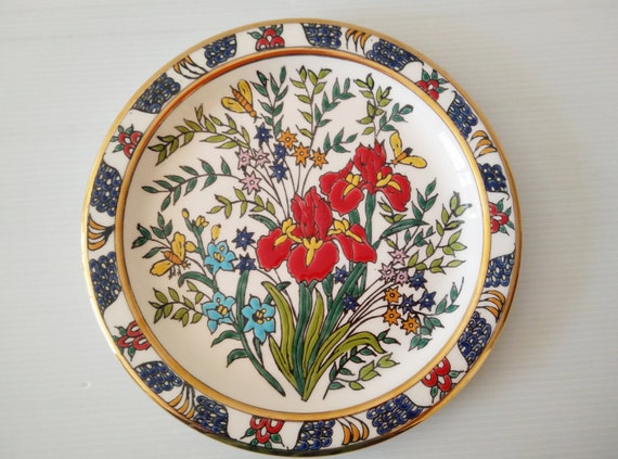 Hermes Hand Painted Plate