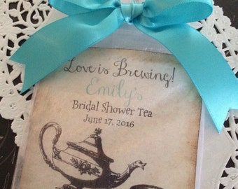 vintage look love is brewing tea party favors tea pot tea cup alice