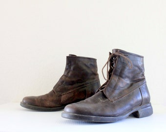 rugged italian leather boots / 9