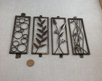 4 Rectangle Nature Silhouette Metal Plates
