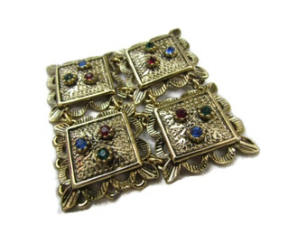 Sarah Coventry Brooch, Renaissance, Costume Jewelry, Egyptian Revival, Vintage Broach, Geometric, Sarah Coventry Jewelry, Pins Brooches