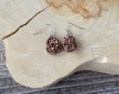 Brown Druzy Earrings