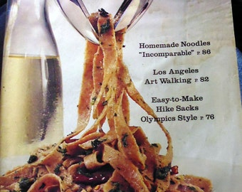 Sunset Magazine February 1980, homemade noodles, begonias, coral trees, Olympic symbols, energy conservation, Dim Sum, muffin mix